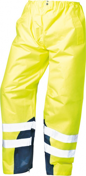 Odzież ochronna Spodnie przeciwdeszczowe ostrzegawcze Renz, rozmiar 2XL, żółte 2xl,