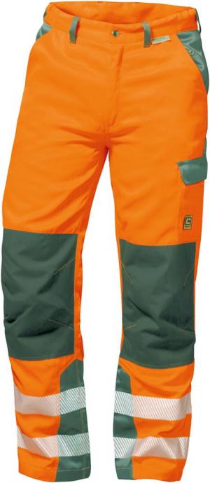 Odzież ochronna Spodnie z paskiem ostrzegawczym Nizza, rozmiar 56, pomarańczowe/szare nizza,