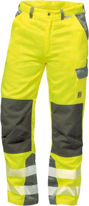 Odzież ochronna Spodnie z paskiem ostrzegawczym Paris, rozmiar 58, żółte/szare ochronna