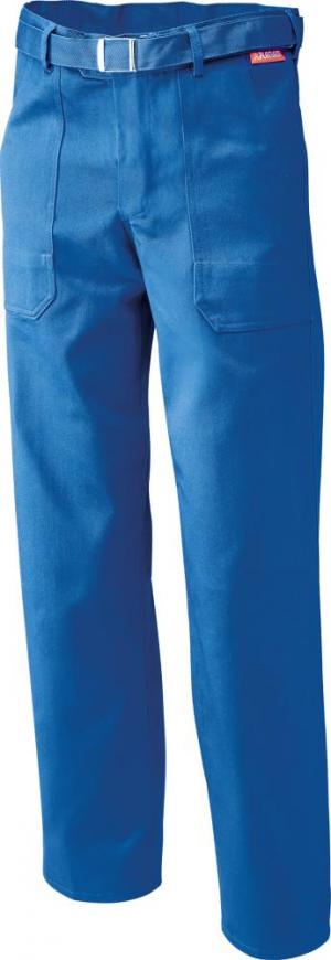 Odzież robocza Spodnie z paskiem w talii, 100% bawełna, 290 g/m², rozmiar 58, błętkit królewski 100,
