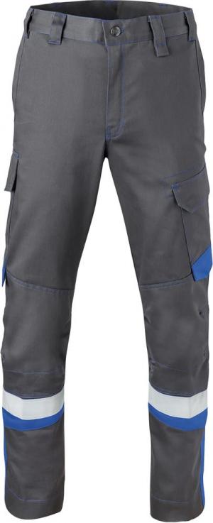 Odzież ochronna Spodnie z paskiem w talii, 80340 rozmiar 58, szare/niebieski węgiel 80340