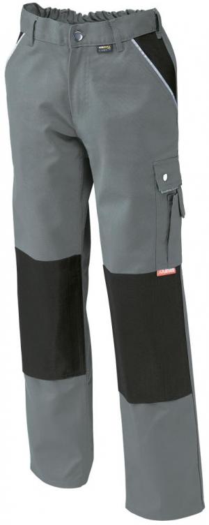 Odzież robocza Spodnie z paskiem w talii, płótno, 320 g/m², rozmiar 56, szare g/m²,