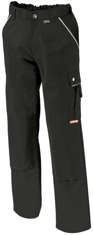 Odzież robocza Spodnie z paskiem w talii, płótno, 320 g/m², rozmiar 58, czarne czarne