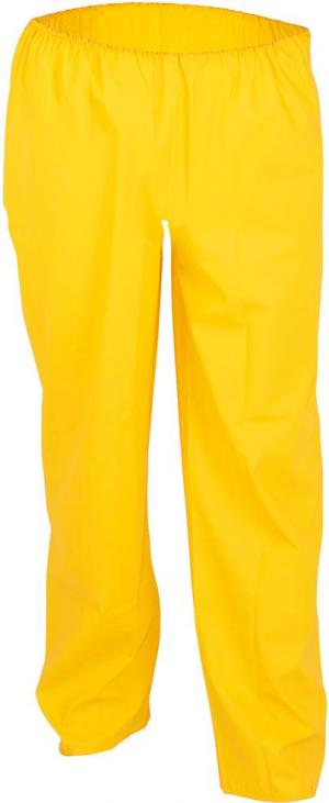 Odzież robocza Spodnie z paskiem w talii, PU stretch, rozmiar 4/62-64, żółte 4/62-64,