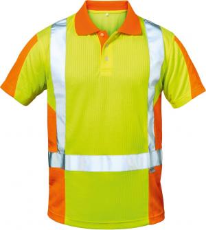 Odzież ochronna Warn koszulka polo Zwolle, rozmiar 3XL, żółty/pomarańczowy 3xl,