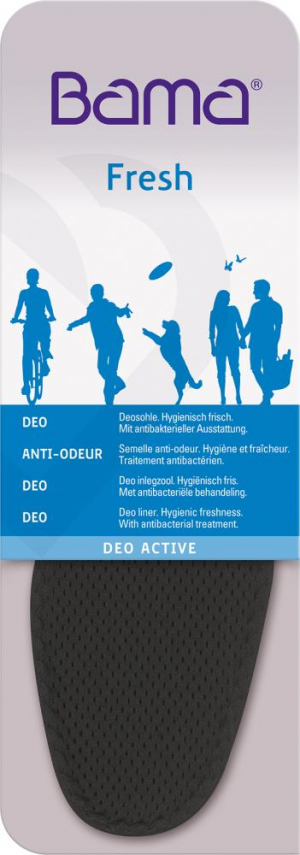 Ochrona stóp Wkładki do butów Deo Active, rozmiar 39 active