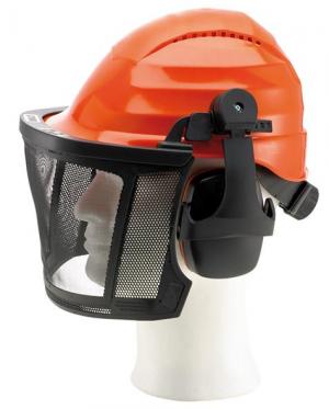 Odzież do pracy w leśnictwie Zestaw kask z częściami ochronnymi PRO częściami