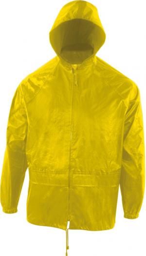 Odzież przeciwdeszczowa Zestaw przeciwdeszczowy (spodnie/ kurtka), rozmiar S, żółty kurtka